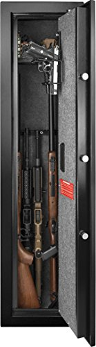 BARSKA New Large Quick Access Biometric Rifle Gun Safe Cabinet (13.75 in x 13.38 in x 57 in)