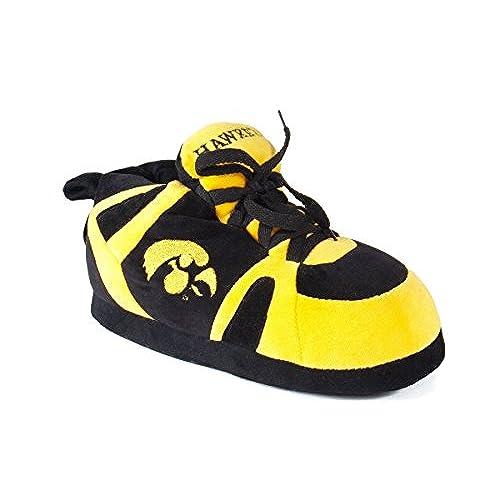 IOW01-1 - Iowa Hawkeyes - Small - Happy Feet Men's and Womens NCAA Slippers
