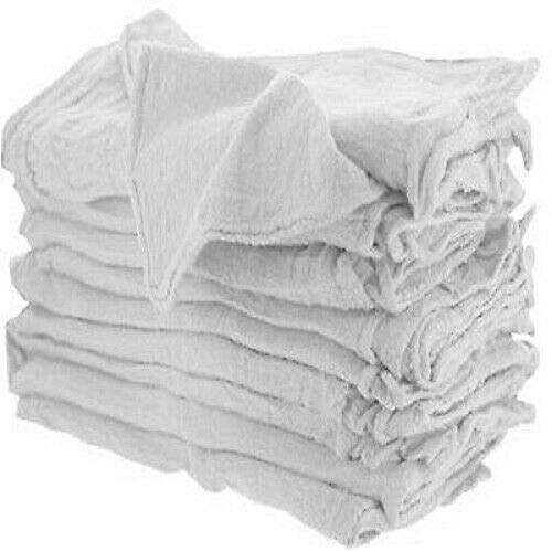 New White Shop Towels Heavy Rags 14X15'' Commercial Cleaning A Grade Rags GA 100 PCS by E_GGW (Image #3)