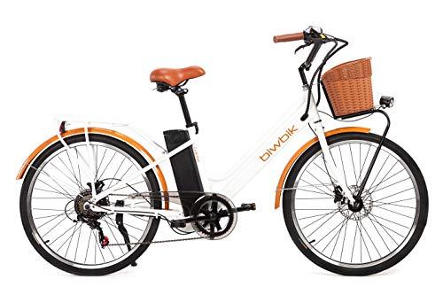 🥇 BIWBIK Bicicleta ELECTRICA Mod. GANTE BATERIA Ion Litio 36V12AH