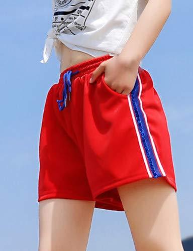 da righe White alta YFLTZ vita donna da Pantaloni slim chinos a wqFgZ