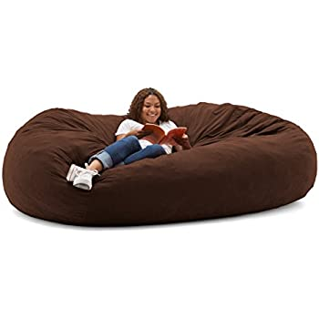 Big Joe XXL Fuf Foam Filled Bean Bag Chair Comfort Suede Espresso