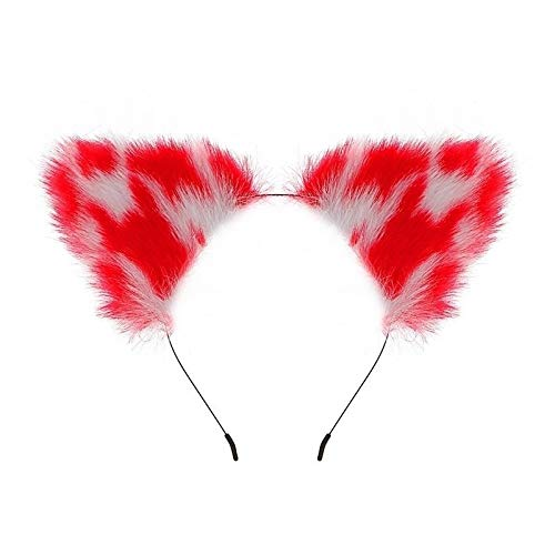 Novetly likelife Fox Tail and Ears Hair Neck Collar Set Halloween Christmas Cosplay Party Costume Toys Gift kiss me Quick YYQXHM (Color : 4pcs)