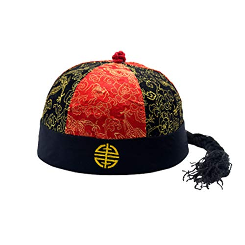 Sunny Hill Ancient Chinese Royal Emperor Hat Role Play Decorative Cosplay Hat (Red Black Large) by Sunny Hill