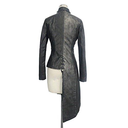 Devil Fashion Vestes et manteaux pour dames Slim Black Gothic Irregular Shape JacketsSteampunk LadiesJackets, 7 Tailles