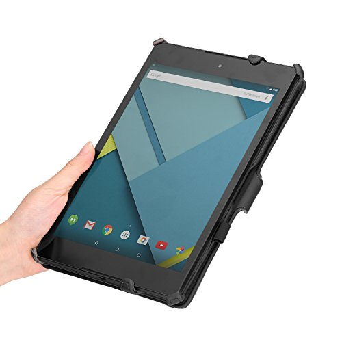 MoKo Google Nexus 9 Case - Slim-Fit Multi-angle Folio Cover Case for Google Nexus 9 8.9 inch Volantis Flounder Android 5.0 Lollipop tablet by HTC, BLACK (With Smart Cover Auto Wake / Sleep Feature)