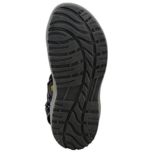 McKinley 262118 - Sandalias de senderismo para hombre, color negro azul y negro