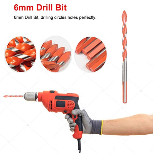 6mm Drill Bit Rotary Tool Hole Saw Tile Ceramic Woodworking Concrete Brick Wall Drilling Carbide Tip Power Accessories Set