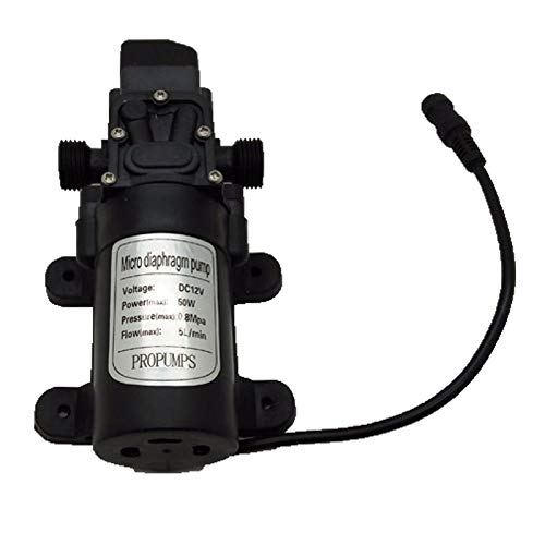 ReeeR C140 DC 12V High Pressure Misting Pump 160PSI Booster Diaphragm Water Pump with Power Supply