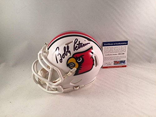 Bobby Petrino Signed Louisville Cardinals Mini Helmet - PSA/DNA Certified - Autographed College Mini Helmets