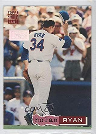 Amazoncom Nolan Ryan 2000 Baseball Card 1994 Topps Stadium