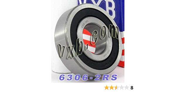 """3//16 x 1//2 x0.196/"""" Stainless Rubber Sealed Ball Bearing R3-2 2RS 10pcs"""