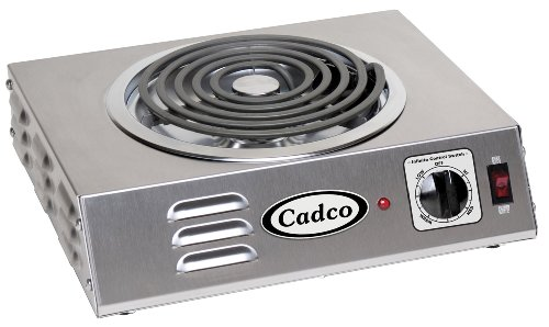 Cadco CSR-3T Countertop Hi-Power Single 120-Volt Hot Plate (Tubular Burner)