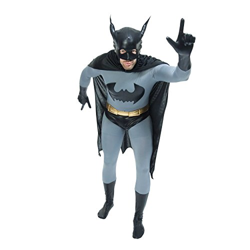 Zoelibat 97216545.006.l Batman The Dark Knight-Unisex-Speed Suit Body Suit Bodysuit Catsuit, Multi-Colour (Speed Anzug)