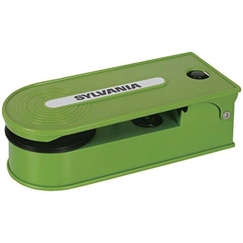 Sylvania Turntable Record Player with USB Encoding, Green