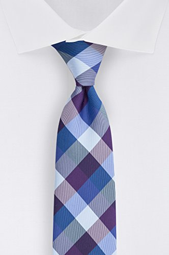 Tommy Hilfiger Men's Buffalo Tartan Tie, Purple, One Size