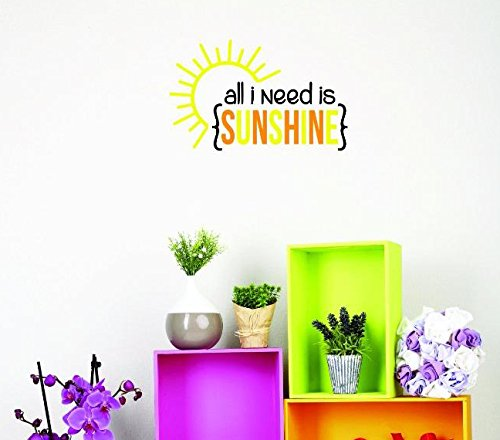 Design with Vinyl US V JER 3623 3 Top Selling Decals All I Need Is Sunshine Wall Art Size 20 Inches X 40 Inches Color Multi 20 x 40