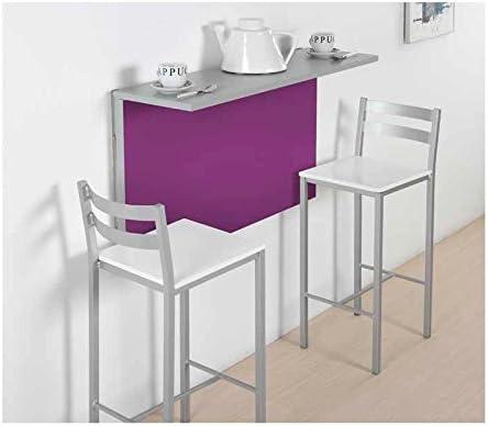 Amuebla 674. Mesa DE Cocina A Pared DE 90 X 30/50 CM.: Amazon.es ...