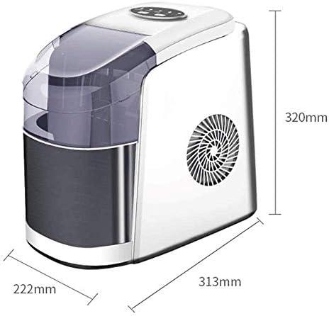 NLRHH Ice Maker Countertop, 55lbs 24Hrs, Cubes Prêt à 8mn, Machine électrique Portable avec LED Lumières, Scoop et Panier for Home Office Party Bar Peng