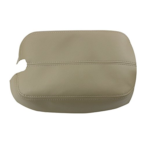 SunAutobuy Beige Synthetic PU Leather Armrest Cover Skin for 2008 to 2012 Honda Accord All