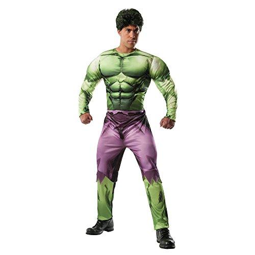 Deluxe Costumes Hulk (Rubie's Costume Men's Marvel Universe Adult Deluxe Hulk Costume, Multi,)