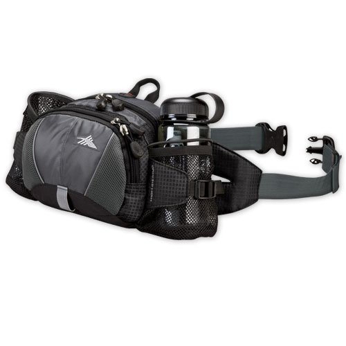 High Sierra Express Lumbar Pack, Black/Tungsten/Black, Outdoor Stuffs