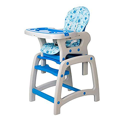 Dearbebe 3-in-1 Infant High Chair with Tray,Blue by Dearbebe