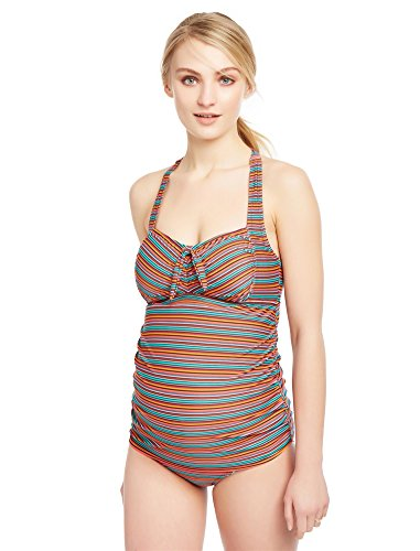 Motherhood Multi Stripe Tie Detail Maternity - Swimsuit Maternity Motherhood Tankini