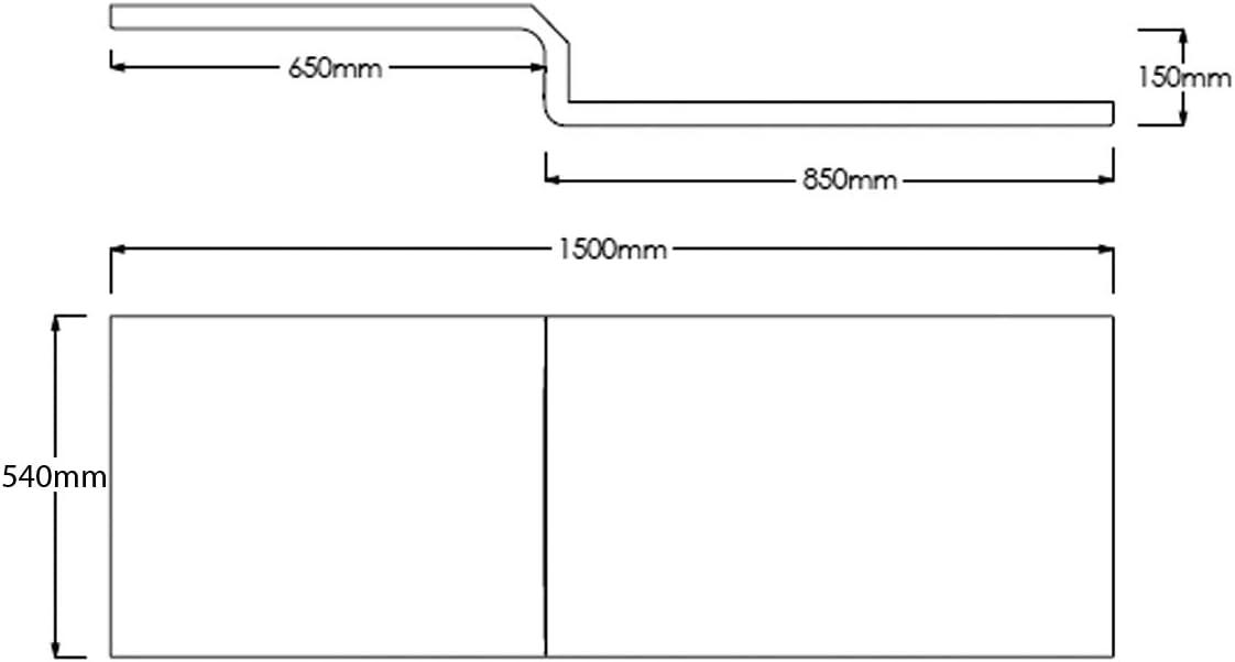 DIY & Tools Soaking Baths 1600 x 520mm L-Shape Shower Bath Front ...