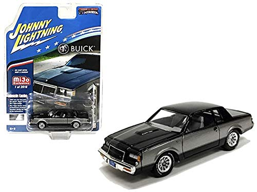 1987 Buick Regal T-Type Black and Silver Limited Edition to 2,016 Pieces Worldwide 1/64 Diecast Model Car by Johnny Lightning JLCP7179 from Johnny Lightning
