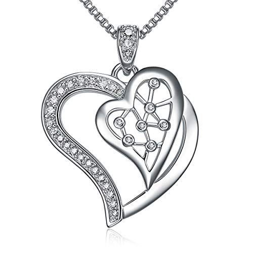 LILOING Two Heart Pendant Love Necklace,Love Forever Jewelry for Women,Valentines Day&Birthday Gifts