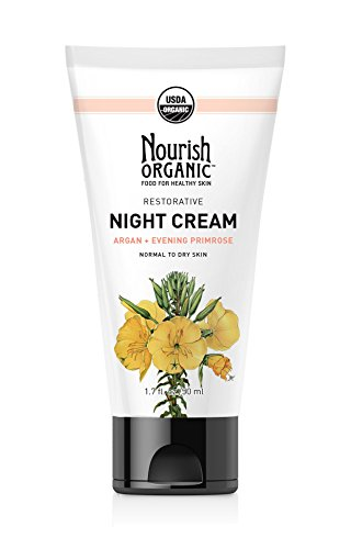 Nourish Organic Restorative Night Cream for Face, 1.7 Ounce