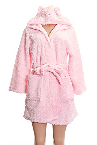 Hello Kitty Pink Soft Original Plush Shower Gown (L) (Womens Hello Kitty Bathrobe)