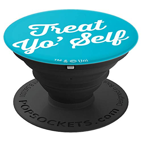 Parks and Rec Treat Yo' Self Tom Haverford and Donna Meagle - PopSockets Grip and Stand for Phones and Tablets