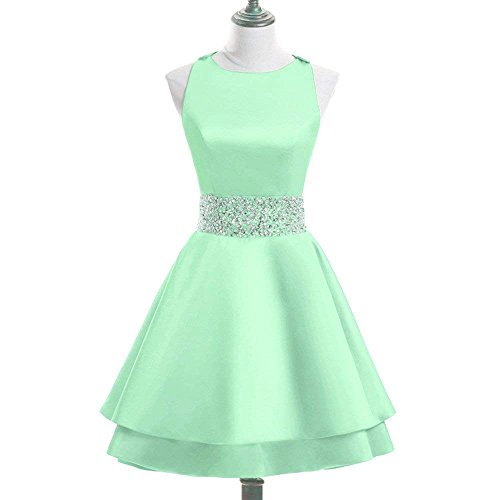 Beadings Cocktail - Sweetdress Womens Crew Beading Prom Dresses Short Sequiuned Homecoming Dresses Mini Cocktail Dresses