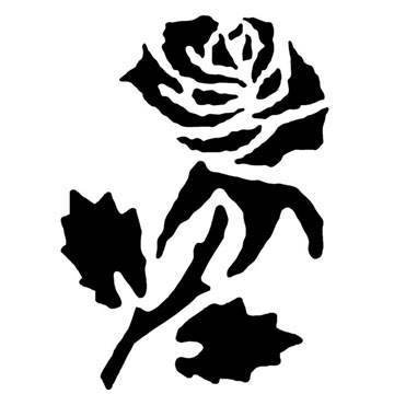Kreul Fantasy Tattoo Stencil Rose with Free