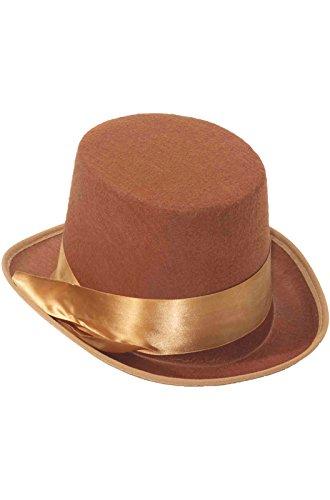 Forum Novelties Steampunk Bell Topper Hat (Brown)-