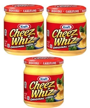 Kraft Cheez Whiz Original Cheese Dip, 15 oz Jar (Pack of 3) (Cheese Sauce For Broccoli With Cheese Whiz)