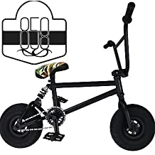 Ride 858 Mini BMX Freestyle Bike – With 3pce Crank & Spring Accessories, Fat Tires For Pro To Beginner – These Bad Boy Bicycles Are Great For Stunt Trick & Racing (Camo) By RIDE 858