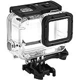 Professional Gopro Waterproof case for GoPro Hero 2018/7/6/5, Pressure-Resistant Waterproof 45m Underwater Diving case, with Stand Accessories for Go Pro Hero7 Hero6 Hero5 Sports Camera