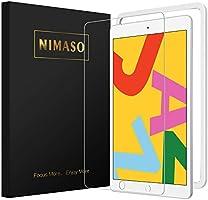 【ガイド枠付き】Nimaso iPad 10.2 (8世代 2020) ガラスフィルム iPad 7世代 2019 フィルム 強化ガラス 液晶保護