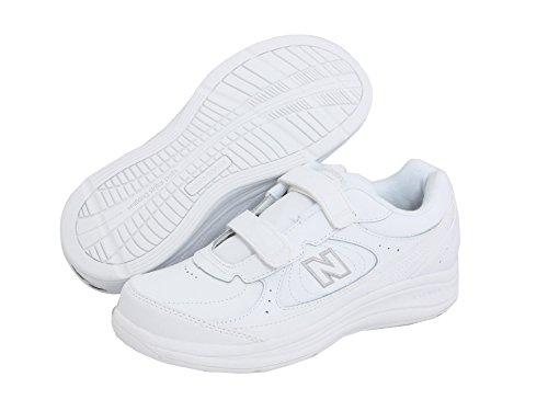 (ニューバランス) New Balance レディースウォーキングシューズ?靴 WW577 Hook and Loop White 9 (26cm) D - Wide