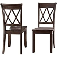 Steve Silver Aida Dining Chair in Brown (Set of 2)