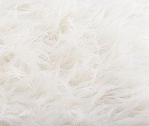 Camera Photo Floor Prop Faux Fur Artificial Fur, Newborn Baby Photography Props, Basket Stuffer Blanket - Baby Props, Basket Fabric (White Fur)