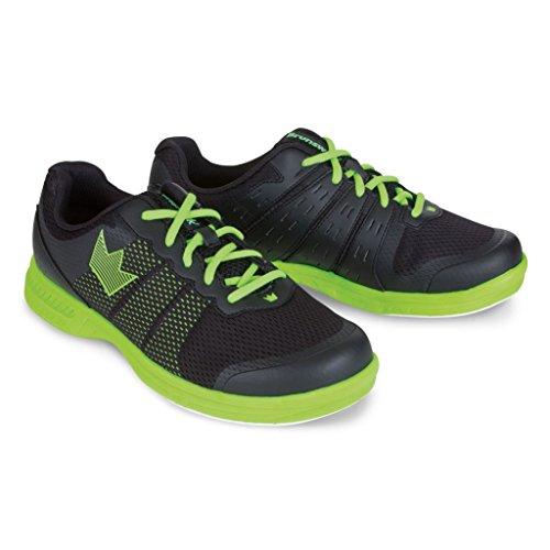 Brunswick Men s Fuze bowling shoes-black/neon Black/Neon