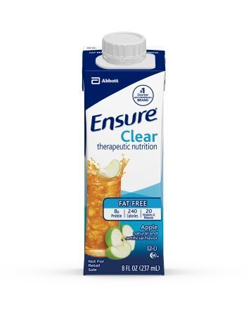 Ensure Clear Apple Flavor Oral Supplement 8 oz Recloseable Tetra Carton Lot of 6