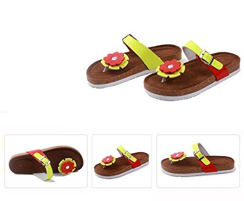 Femme Unisexe Couleur1 Boucle De Pantoufles Plage Thongs Homme Sandales Chaussures Adulte Simple D'été Pour PP1nUqz