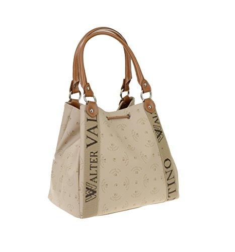 Walter Valentino-Fabriqué en Italie de Livco Grand Shopper avec logo Print env. 33x 28x 20cm beige/cognac, w5482