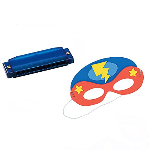 VBS Superhero Theme -Music Craft 4 pack W/Blue Harmonica & Super Hero Mask Craft]()