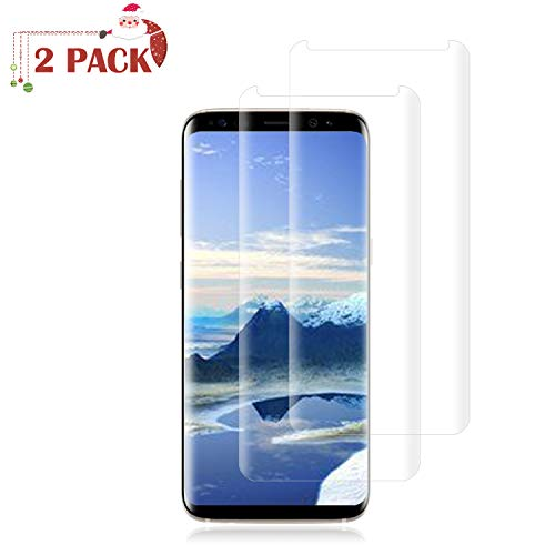 Price comparison product image [2 Pack] Galaxy S8 Plus Screen Protector [9H Hardness][Anti-Scratch][Anti-Bubble][3D Curved] [High Definition] [Ultra Clear] Tempered Live2Pedal Compatible Samsung Galaxy S8 Plus